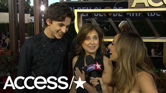 画像: Timothée Chalamet Gets Flustered When Asked About Lily-Rose Depp At The Globes! | Access www.youtube.com