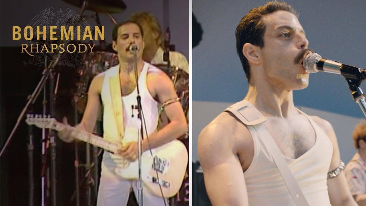 """画像: Bohemian Rhapsody   Live Aid Side by Side: """"Crazy Little Thing Called Love""""   20th Century FOX youtu.be"""