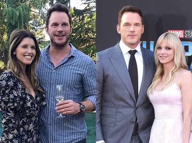 画像: キャサリン&クリス(左)、まだ夫婦だった頃のクリス&アンナ(右)