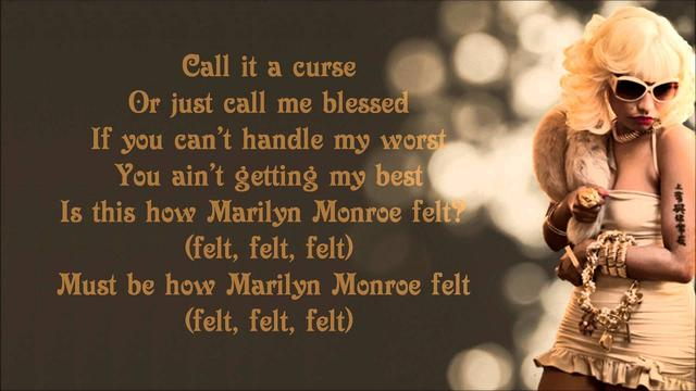 画像: Nicki Minaj - Marilyn Monroe Lyrics Video www.youtube.com