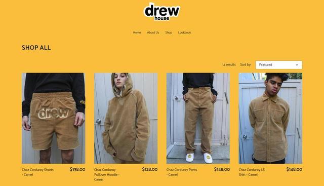 画像: ブランド名に入っている「ドリュー(Drew)」はジャスティンのミドルネーム。 thehouseofdrew.com