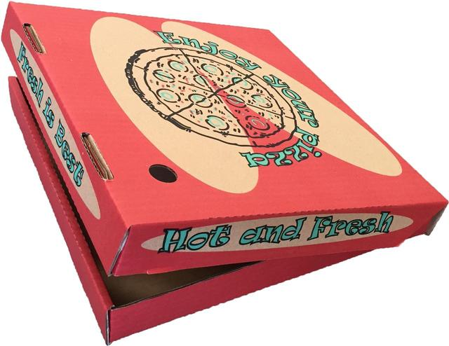 画像: 宅配ピザの箱を大胆活用
