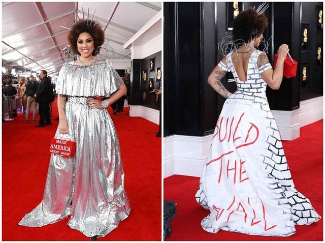 画像2: グラミー賞授賞式に再び「トランプ支持ドレス」のシンガーが登場