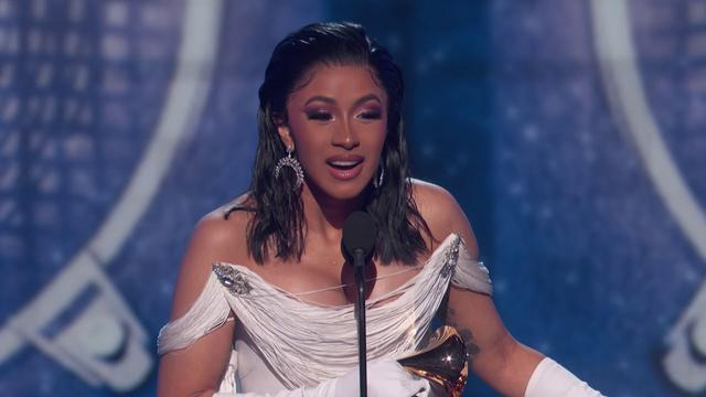 画像: Cardi B Wins Best Rap Album | 2019 GRAMMYs Acceptance Speech www.youtube.com
