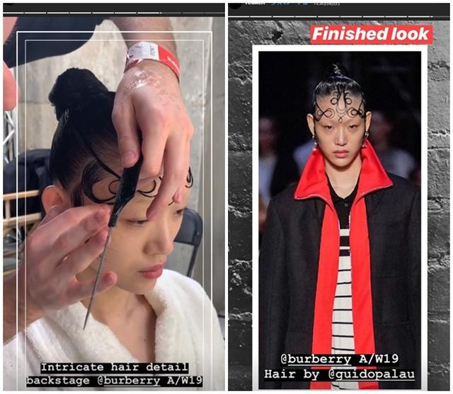 画像: バーバリー、最新コレクションで見せたヘアアレンジの芸術点が100点満点