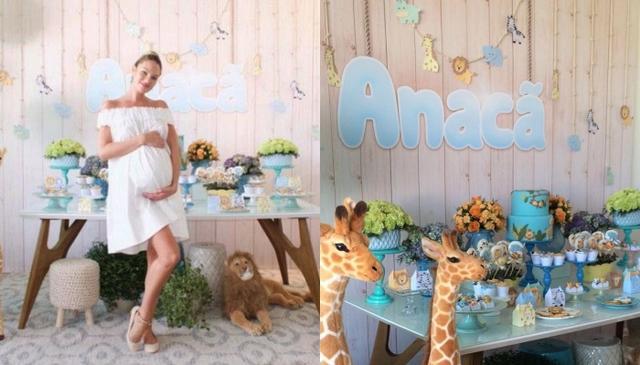 画像: 長男アナカン君の妊娠中に行われたモデルのキャンディス・スワネポールのベビーシャワーでは、スカイブルーが基調に。Ⓒmparaiso/ Instagram