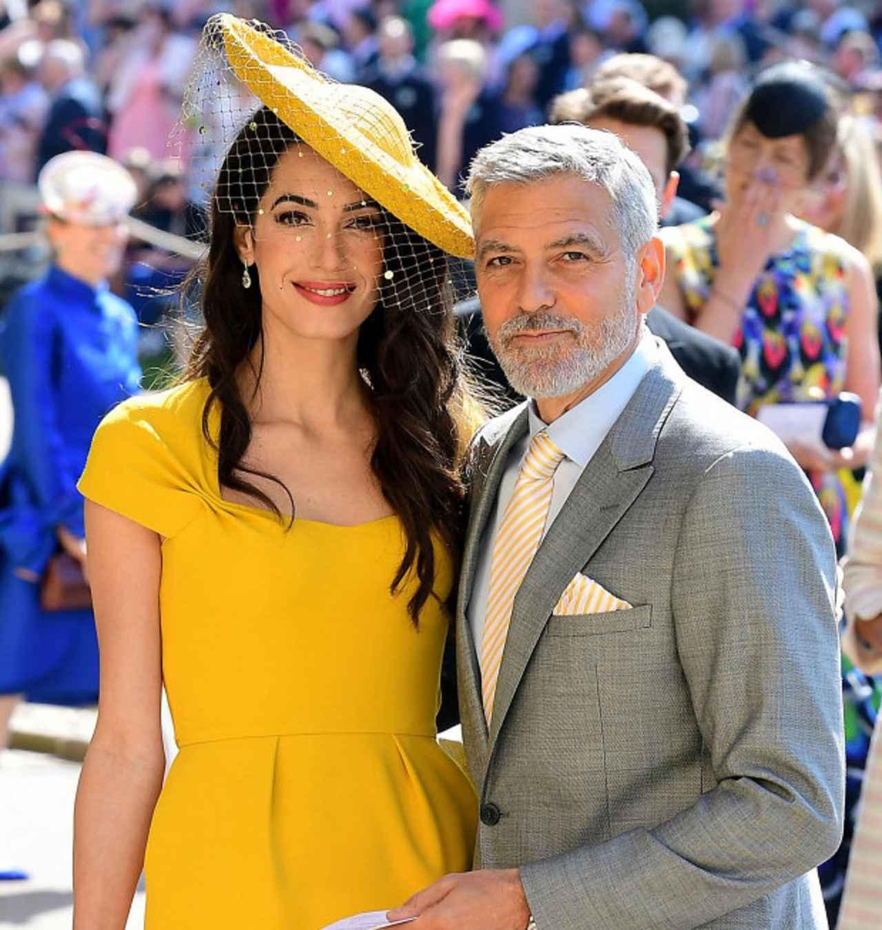 画像: アマル・クルーニーと夫のジョージ・クルーニー。ベビーシャワーにはジョージの姿はなかった。
