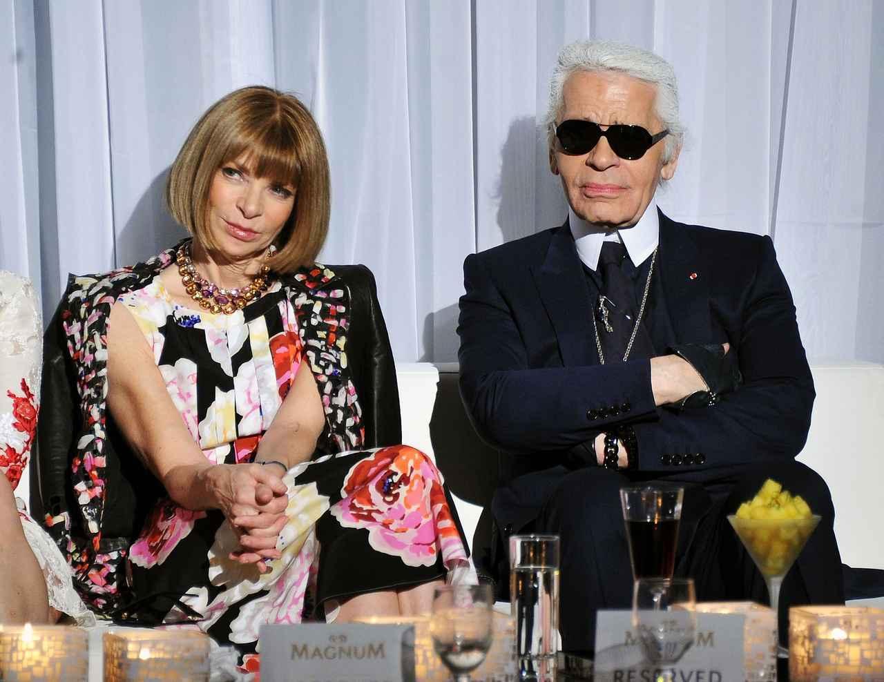 画像1: ファッション界の重鎮アナ・ウィンターがカール・ラガーフェルドの死にコメント