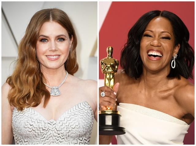画像: 悲願のオスカー初受賞を逃したエイミー・アダムス(左)と、助演女優賞を受賞した映画『ビール・ストリートの恋人たち』のレジーナ・キング(右)。