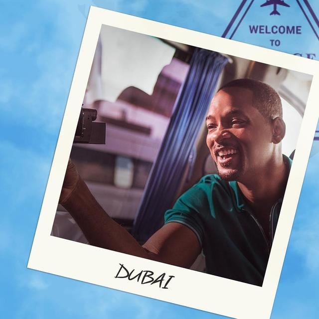 "画像1: Will Smith's Bucket List on Instagram: ""First up: Dubai. Sights, sand and a spiritual journey to the sky ✈️ #WillSmithsBucketList"" www.instagram.com"