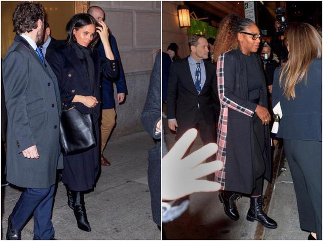 画像: ニューヨークにあるザ・ポロ・バー(The Polo Bar)で目撃されたメーガン妃(左)とセリーナ・ウィリアムズ(右)。