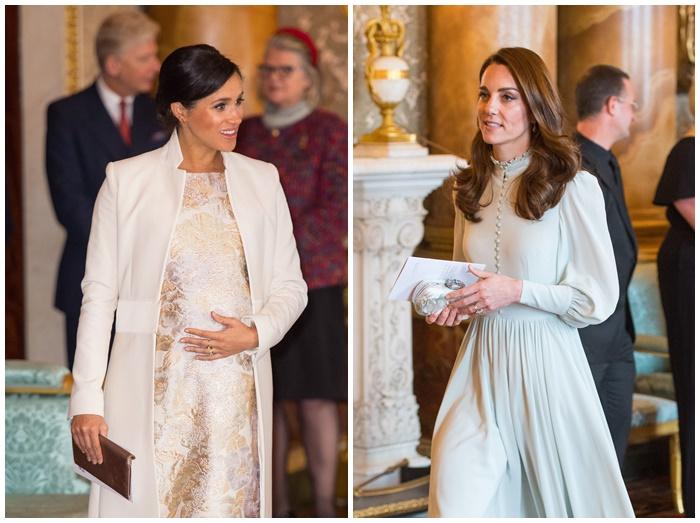 画像: 先日行なわれたウィリアム王子&ヘンリー王子の父チャールズ皇太子の祝賀会で、久々に公の場に一緒に現れたメーガン妃(左)とキャサリン妃(右)。