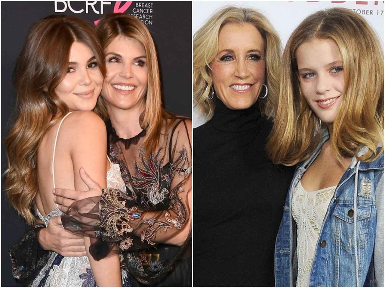 画像: 左:ロリと娘のオリヴィア・ジェイド、右:フェリシティと娘のソフィア(2014年撮影)