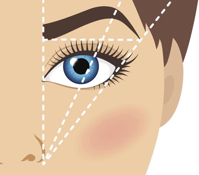 画像2: まばらで薄い眉、細い眉の場合