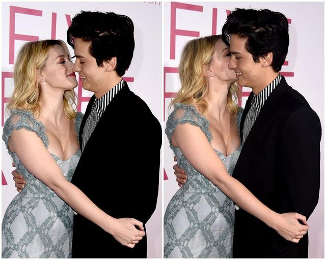 画像: コールの頬にキスをするリリ。