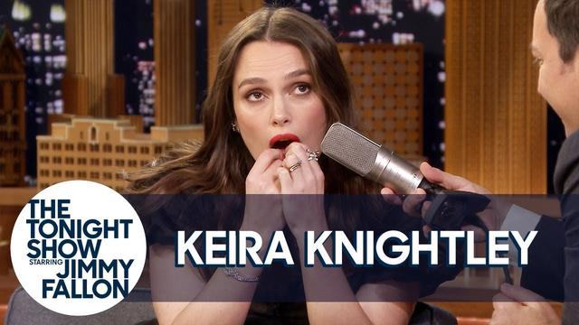 "画像: Keira Knightley Plays ""Despacito"" on Her Teeth and Reveals a ""Love Actually"" Secret www.youtube.com"