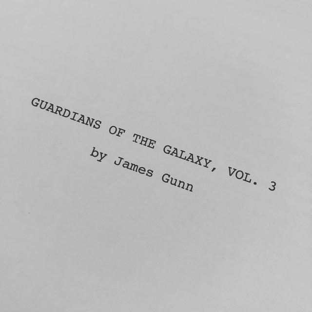 "画像1: James Gunn on Instagram: ""Screenplay.  #gotg #marvel #screenwriting #guardiansofthegalaxy #gotgvol3"" www.instagram.com"