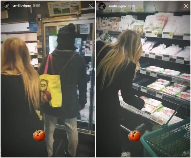 画像4: アヴリル、スーパーでお買い物