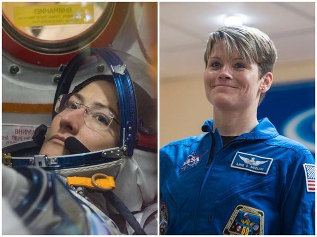 画像: 左:クリスティーナ・コーク宇宙飛行士 右:アン・マクレイン宇宙飛行士