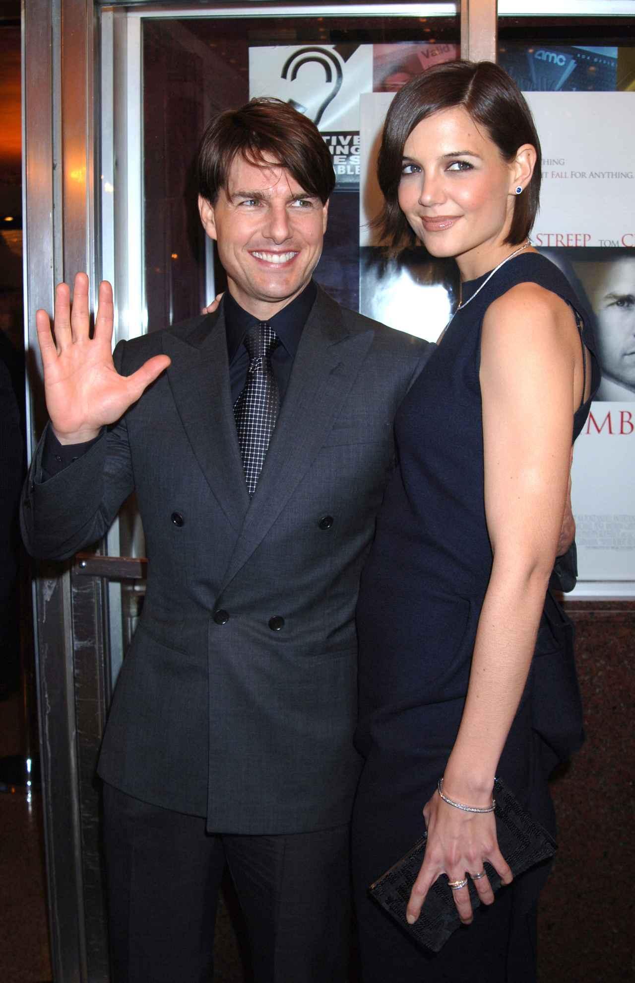 画像: トム・クルーズと元妻のケイティ・ホームズ。