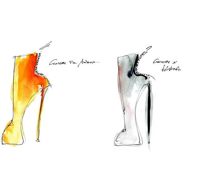 画像3: アリアナ・グランデがツアーでジュゼッペ・ザノッティのシューズ着用、デザイン画公開!