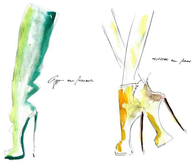 画像2: アリアナ・グランデがツアーでジュゼッペ・ザノッティのシューズ着用、デザイン画公開!