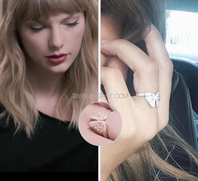 画像: テイラー・スウィフトの指に輝く「指輪」は恋人のイニシャル?ファン議論が過熱
