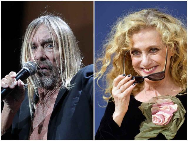 画像: イギー・ポップ(左)、キャロル・ケイン(右)