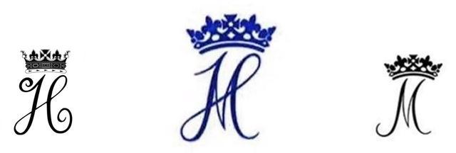 画像: 左がヘンリー王子のサイファで、右がメーガン妃のサイファ。真ん中のサイファは、2人のサイファを合わせて作られたもので、公式インスタグラムのプロフィール画像や夫婦連名で送るお礼状のレターヘッドに使用されている。