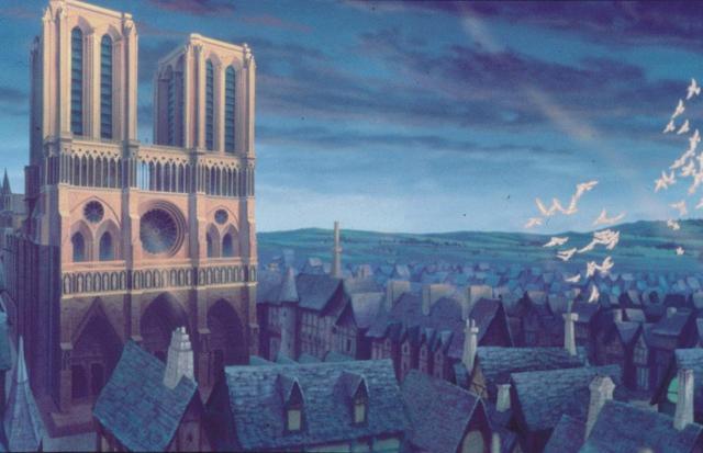 画像: ディズニー映画『ノートルダムの鐘』に出てくる、ノートルダム大聖堂の姿。 Photo:ニュースコム
