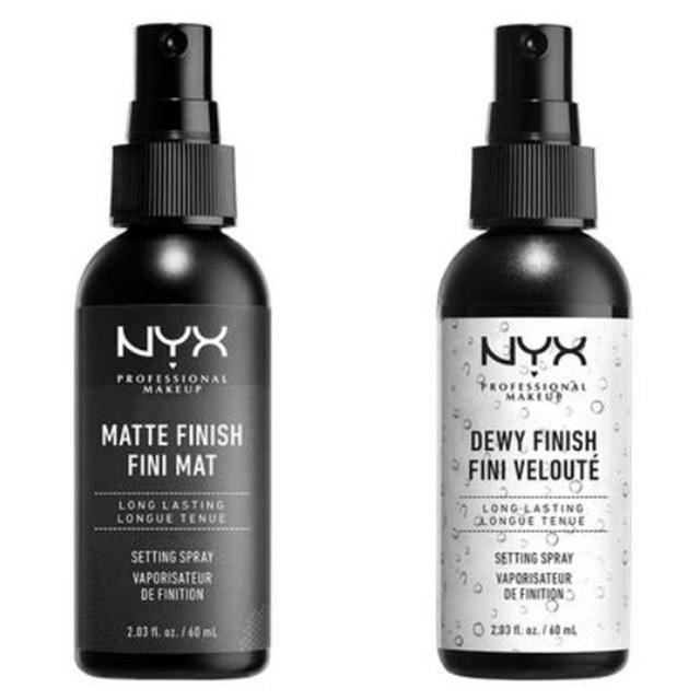 画像: NYX Professional Makeup メイクアップ セッティングスプレー マット(左)/ツヤ(右)1,200円(税抜) ※メーカー小売希望価格
