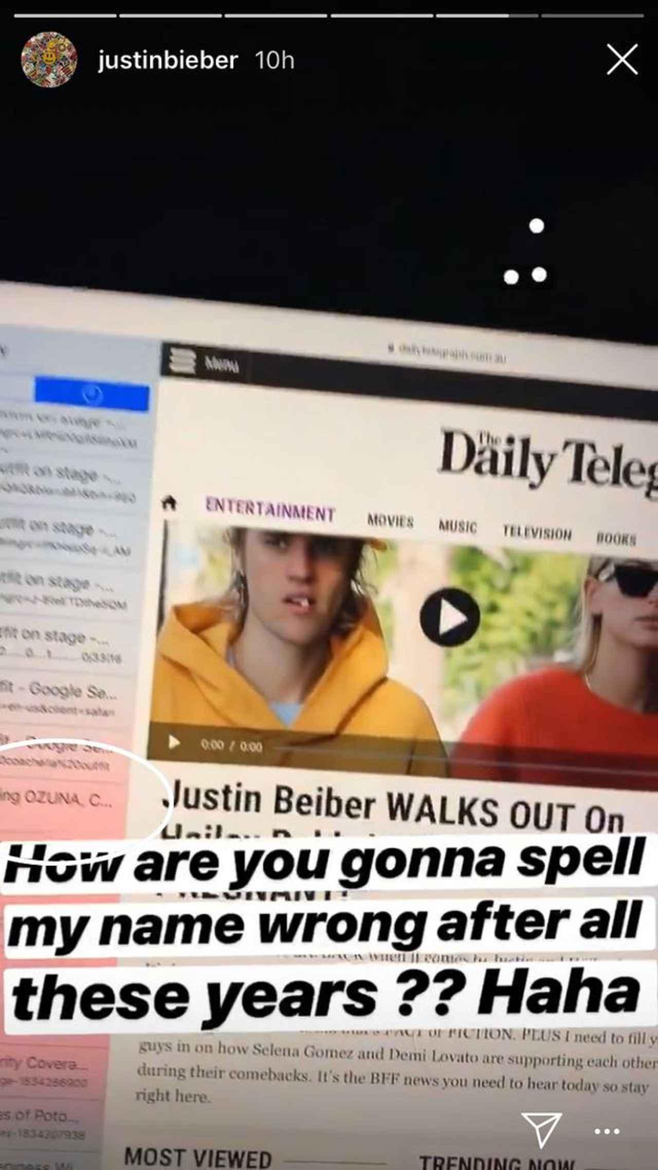 画像: ©Justin Bieber/ Instagram