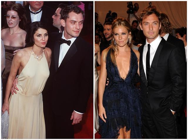 画像: 右:前妻サディとジュード 左:元婚約者のシエナとジュード