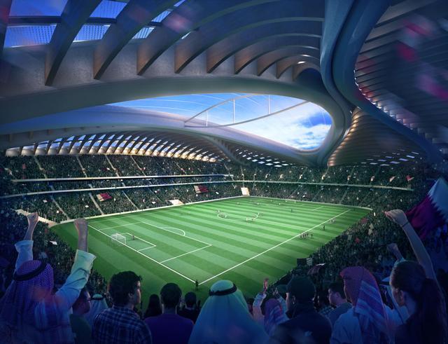 画像: アル・ワクラ・スタジアム内部の構想図。
