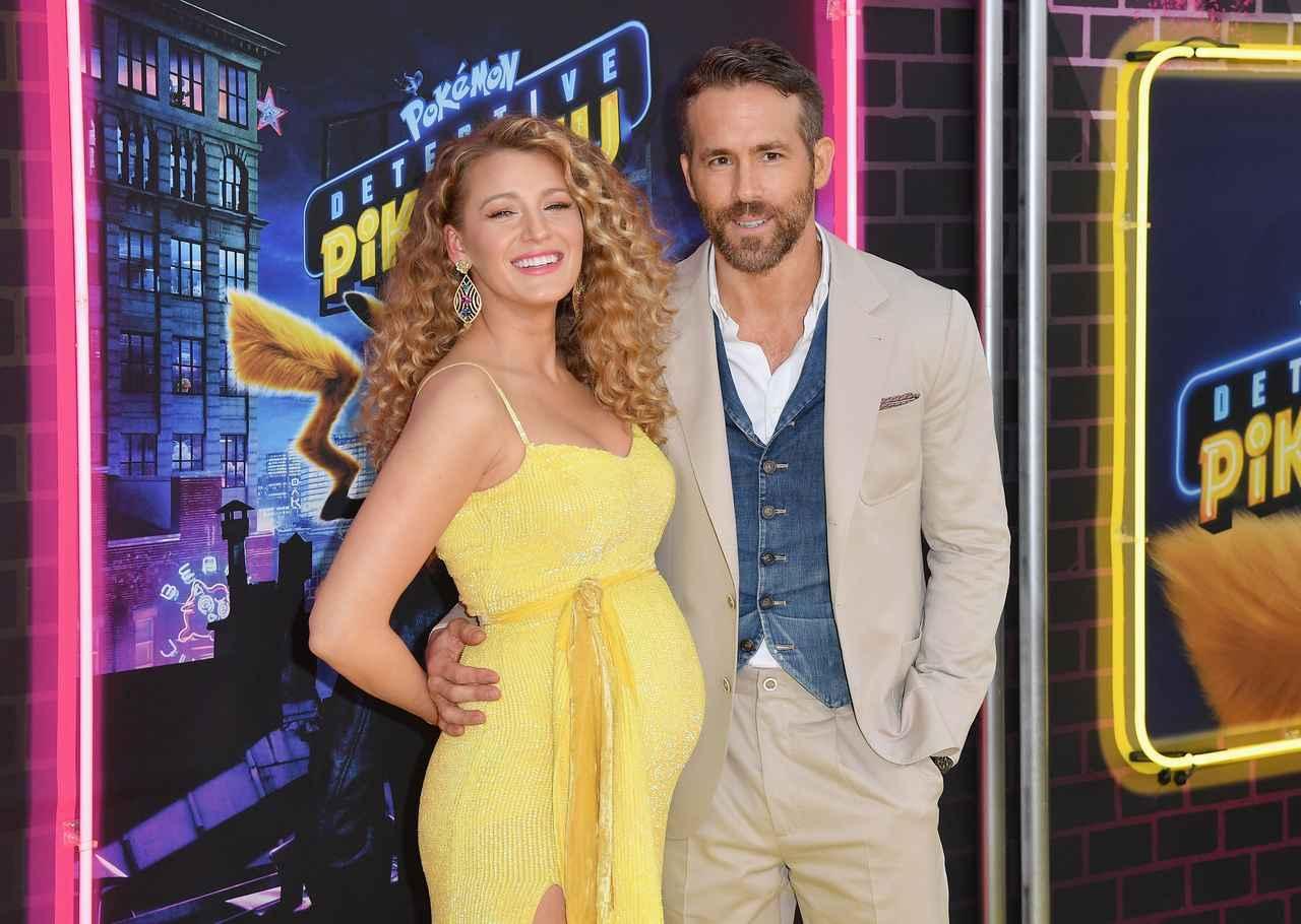 画像: 現地時間の5月2日に米ニューヨークで開催された映画『名探偵ピカチュウ』のプレミアに、妻ブレイク・ライブリーと一緒に出席。