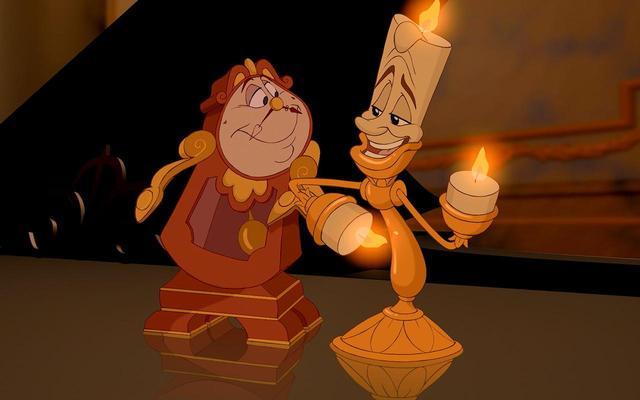 画像: ディズニーのアニメ映画『美女と野獣』より。右がルミエール。 Photo:ニュースコム