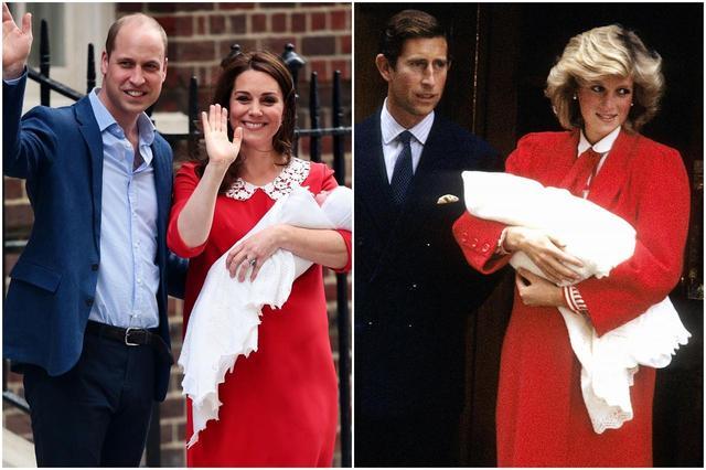 画像: ウィリアム王子&キャサリン妃(写真左)、チャールズ皇太子&故ダイアナ元妃(写真右)。