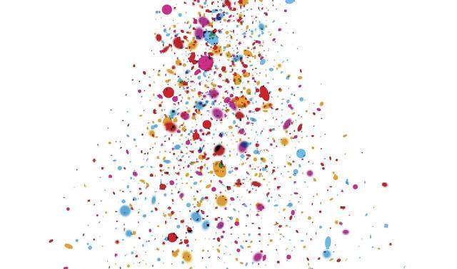 画像1: 紙吹雪をちらしたような楽しい「コンフェッティ・ネイル」が海外で大人気!ネイルデザイン集
