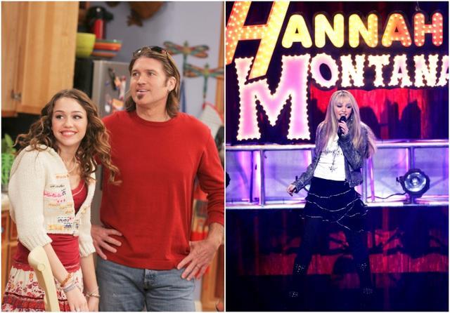 画像: 『ハンナ・モンタナ』の場面写真。マイリーは同作で昼間は普通の女の子マイリー・スチュワートとして、夜はティーンアイドルのハンナ・モンタナとして二重生活を送るティーンを演じ、大ブレイクした。
