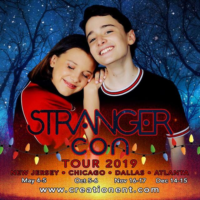 "画像1: by mills ♡ on Instagram: ""Noah & I will be visiting these cities this year! Visit creationent.com for info! Can't wait to meet you! #StrangerConNJ #StrangerConChi…"" www.instagram.com"