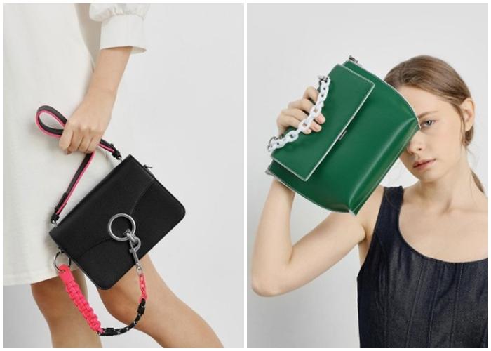 画像: チェーンリンク ショルダーバッグ /Chain Link Shoulder Bag (Black) ¥7,500(税抜) / シングルチェーン ハンドルバッグ /Single Chain Handle Bag (Green) ¥6,900(税抜)