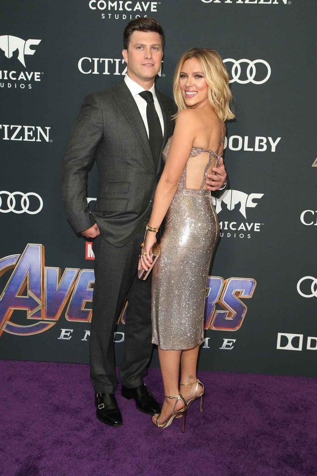 画像: 4月に米ロサンゼルスで開催された、映画『アベンジャーズ/エンドゲーム』のワールドプレミアに出席した際のコリンとスカーレット。
