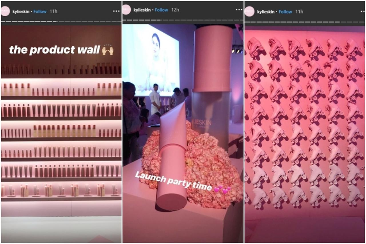 画像: デコレーションやディスプレイもすべてピンク。©Kylie Skin/ Instagram