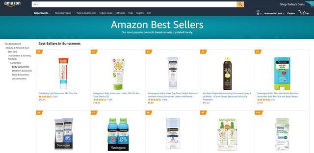 画像: Amazonで最も売れた「日焼け止め」