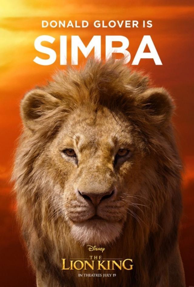 画像: ドナルド・グローヴァ―が声を担当する主人公のシンバ。©Disney Lion King/ Twitter