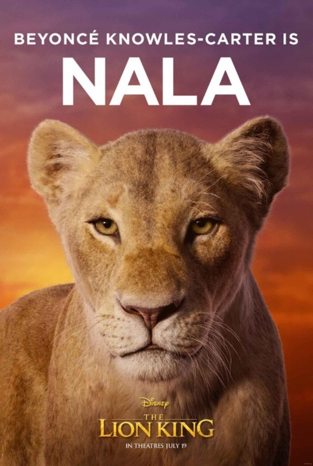 画像 ビヨンセが声を担当するヒロインのナラ。©Disney Lion King