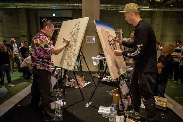 画像1: NY発祥のライブアートイベント「アート バトル ジャパン」に『ティックトック』のサポートが決定