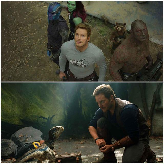 画像: 『ガーディアンズ・オブ・ギャラクシー』(上)と『ジュラシック・ワールド』(下)はどちらもシリーズ化されている大ヒット作品。 Photo:ニュースコム