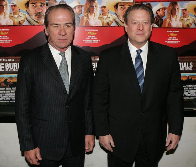 画像: トミー・リー・ジョーンズ/アル・ゴア元副大統領