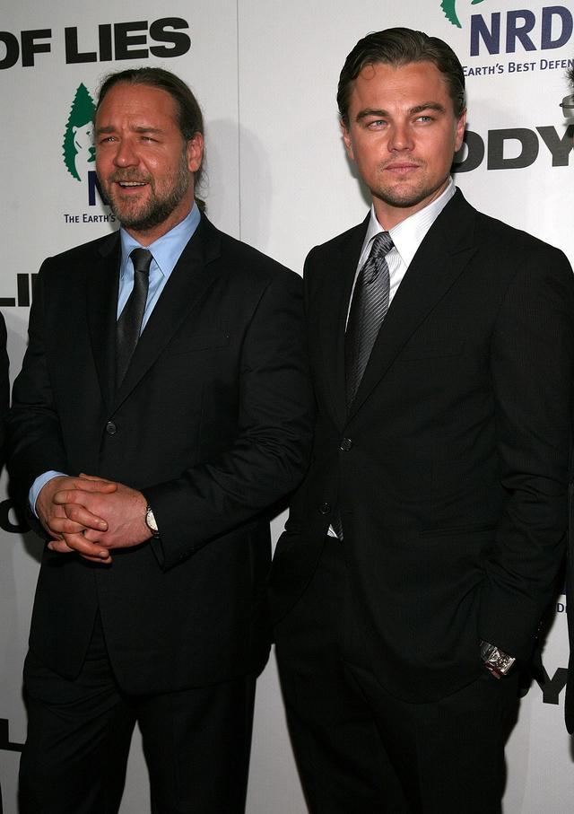 画像: ラッセルとレオナルドは2008年公開のリドリー・スコット監督作品『ワールド・オブ・ライズ』で共演。